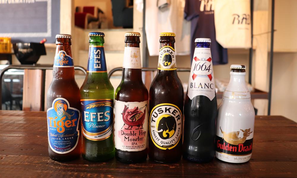 世界のビールの飲み比べコース