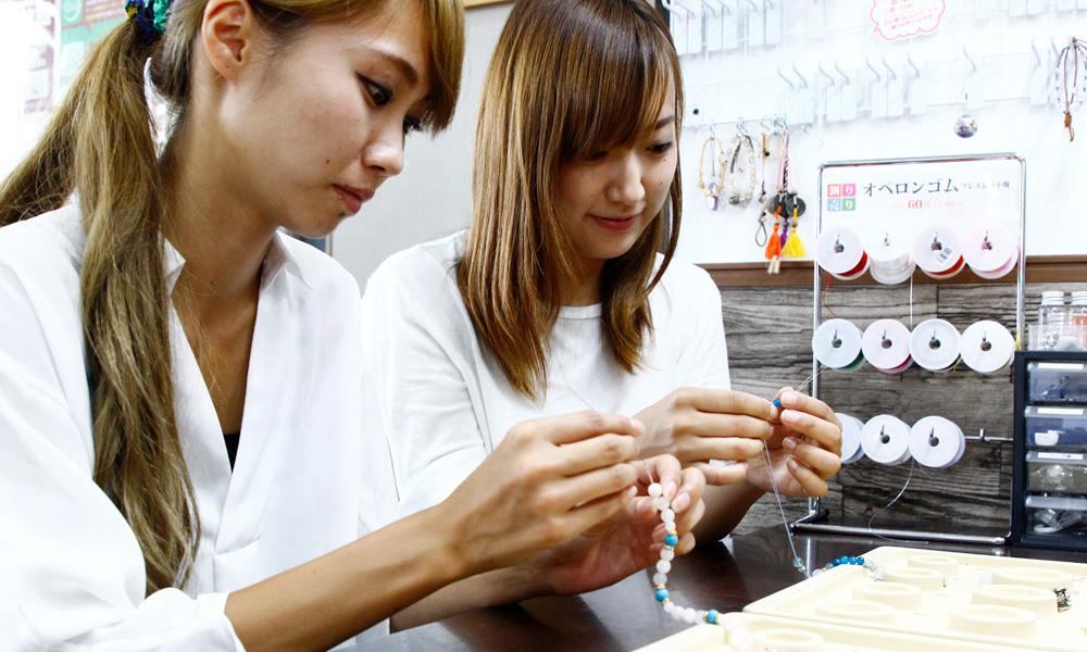 天然石ブレスレット作り【浄化クラスター付き】