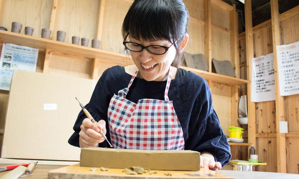瓦粘土の表札&粘土小物作り体験