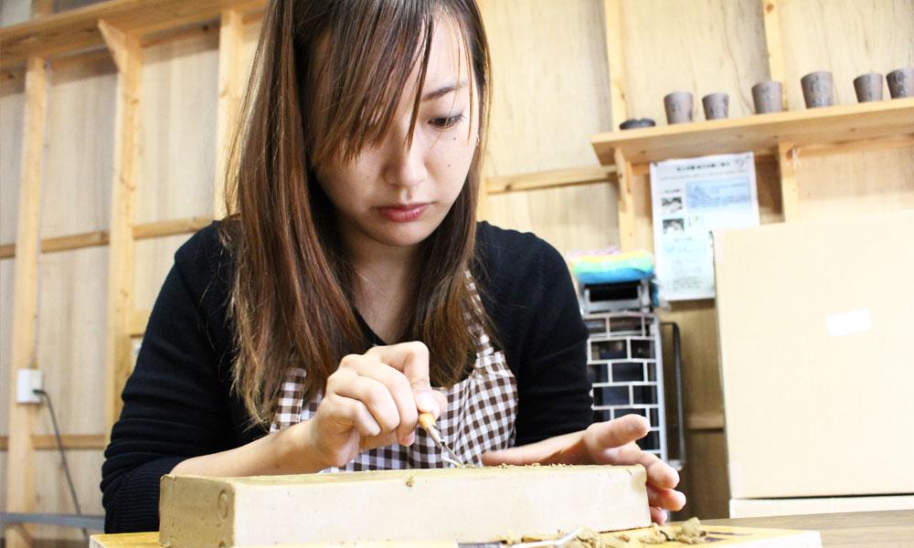 結婚の記念に 瓦粘土の表札&瓦とタンブラーに絵付け&小物作り体験
