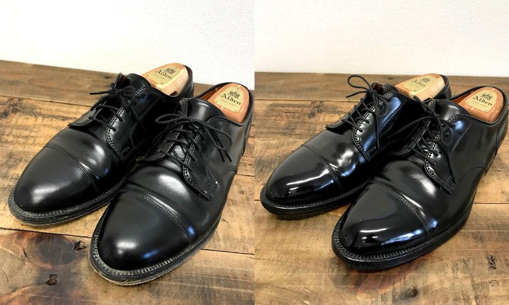 革靴の洗い+メンテナンス